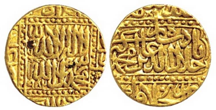Золотая монета индии