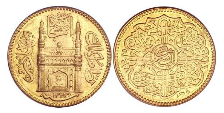 Золотые монеты Индии