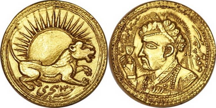 Золотая монета индии ашрафи