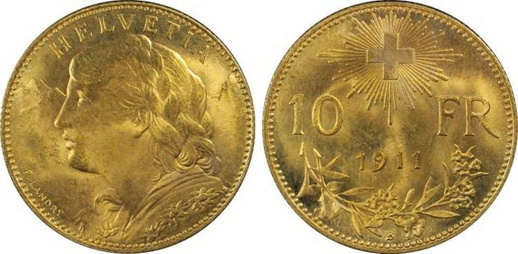 10 Swiss francs (1911-1922)