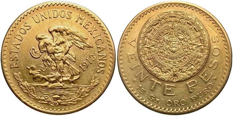 20 Mexican pesos