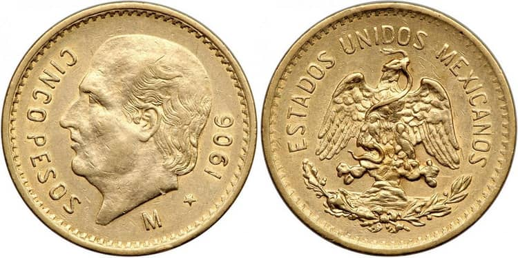 5 Mexican pesos