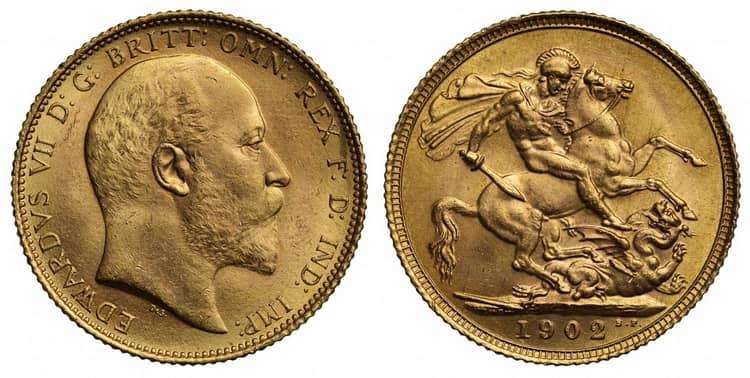 Edward VII (1902-1910) one sovereign