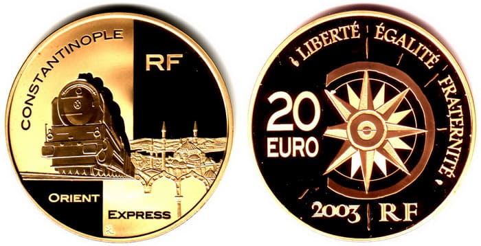 French gold coins 2003