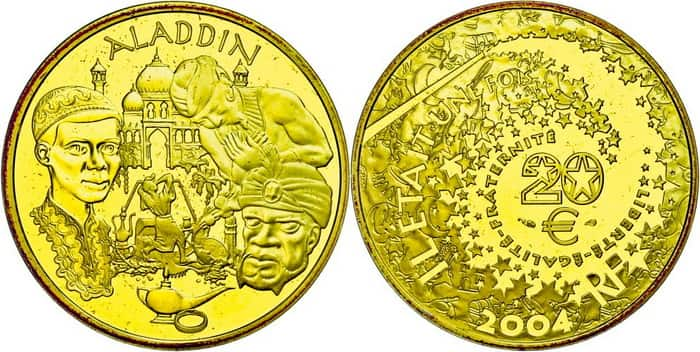 French gold coins 2004