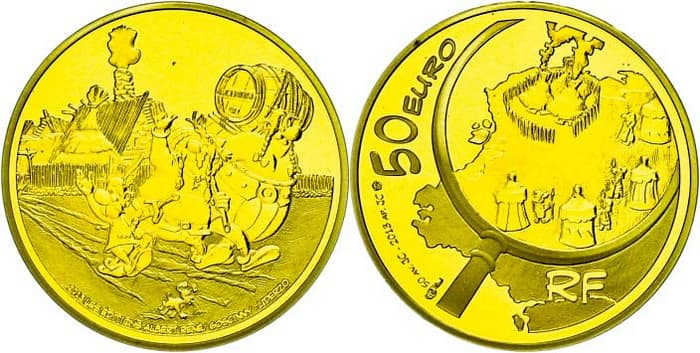French gold coins 2007