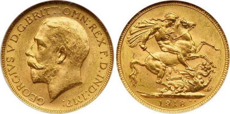 George V (1911-1925) one sovereign