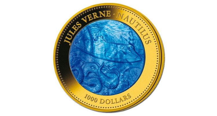 Золотая монета Островов Кука в 1000 долларов