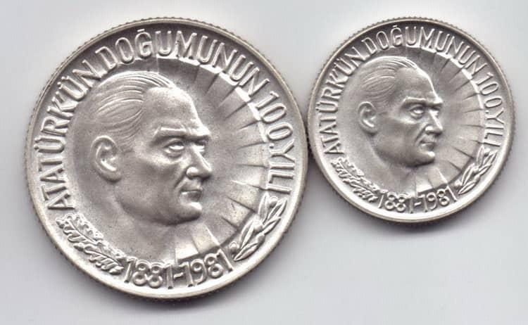 Серебряная монета Турции 19 столетия
