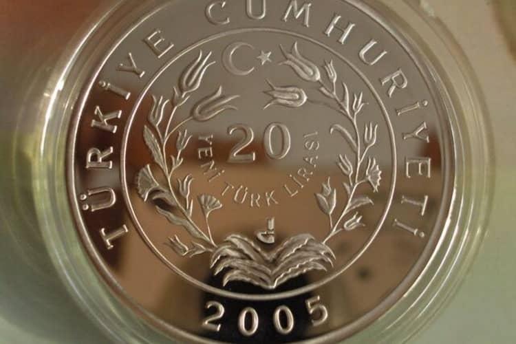 Тираж серебряных монет Турции
