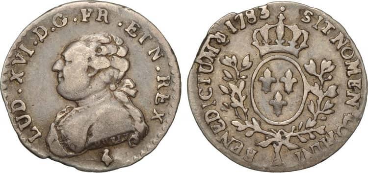 Старинная монета Франции
