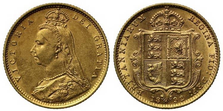Victoria (1887-1892) half sovereign