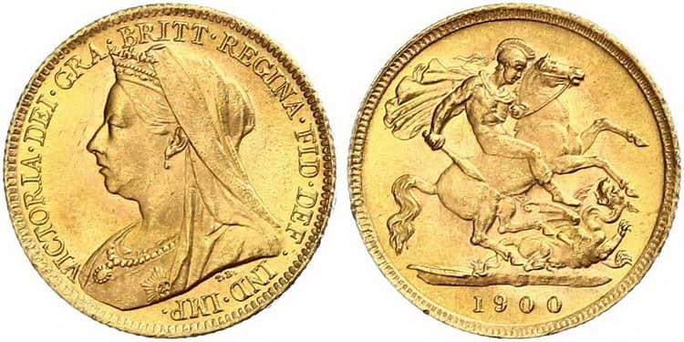 Victoria (1893-1901) half sovereign
