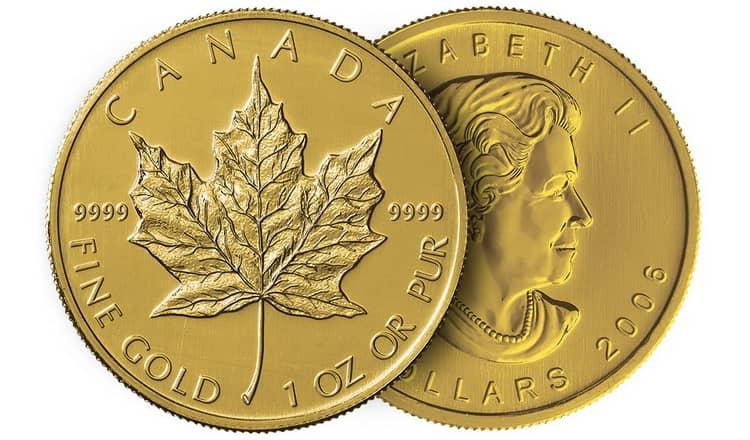 Характеристики золотой монеты Кленовый лист