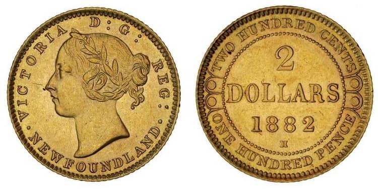 2 золотых доллара Канады