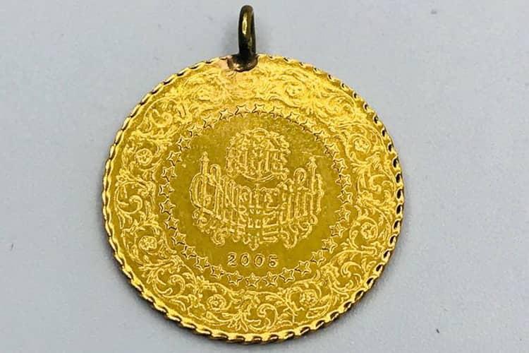 Ювелирные украшения из золотой монеты турции