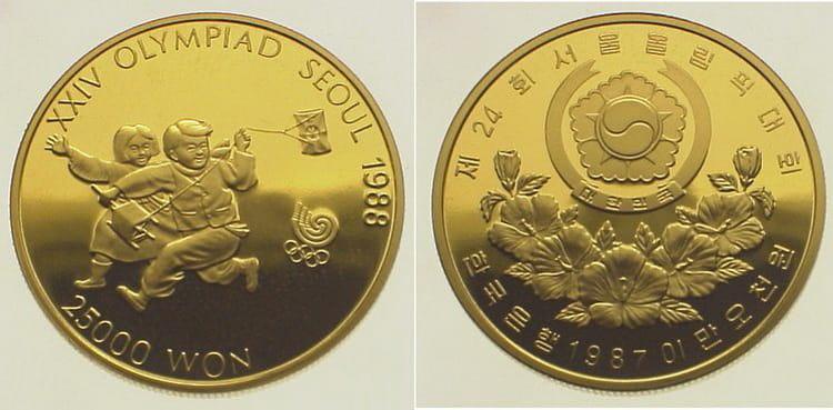 Золотая монета Южной Кореи 1987 года