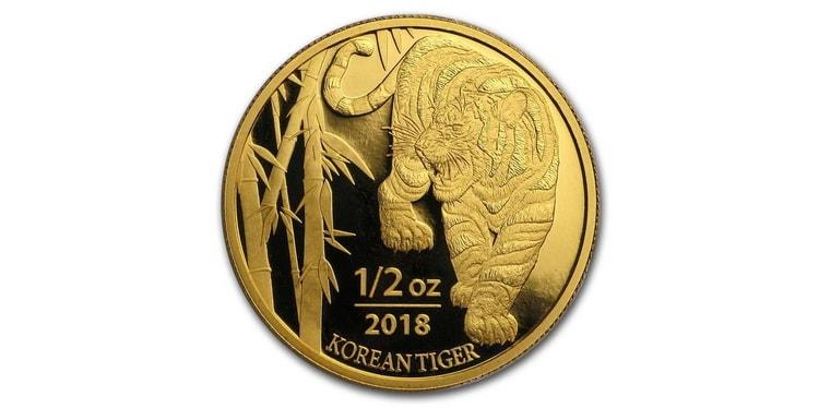 Золотая монета Южной Кореи 2018 года