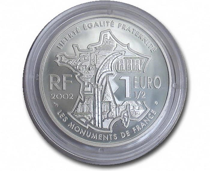 commemorative silver coins of France 2002