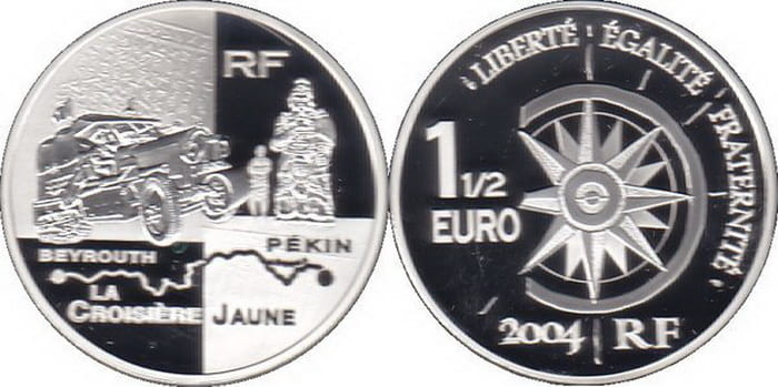 commemorative silver coins of France 2004