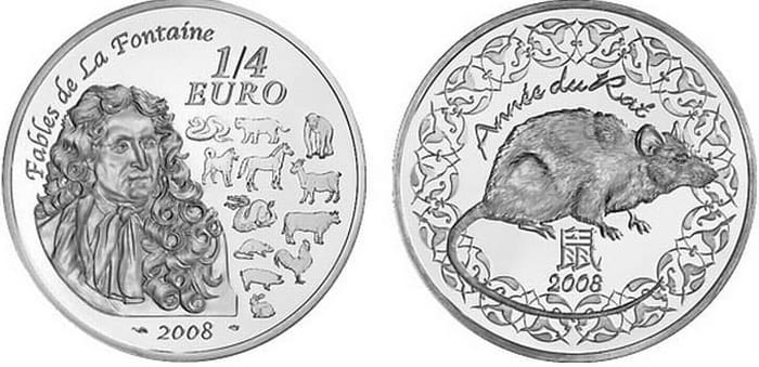commemorative silver coins of France 2008