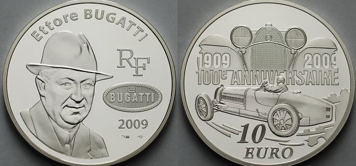 commemorative silver coins of France 2009