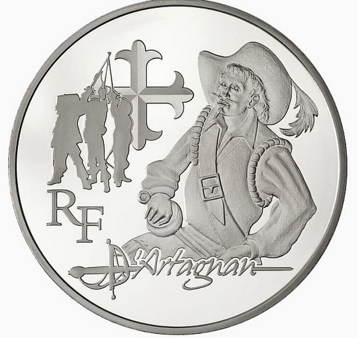 commemorative silver coins of France 2012