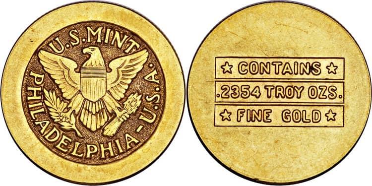 Золотые монеты Саудовской Аравии 1947 года