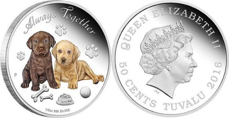 Серебряная монета Тувалу 2016 года