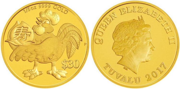 Характеристики золотой монеты Тувалу «Лунный календарь»