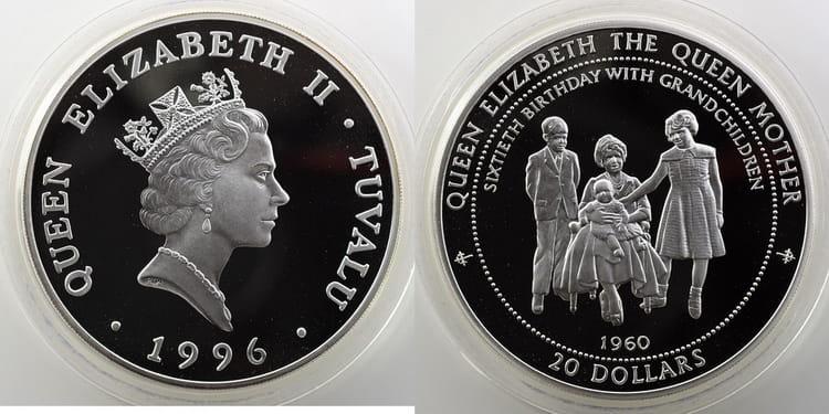 Серебряная монета Тувалу