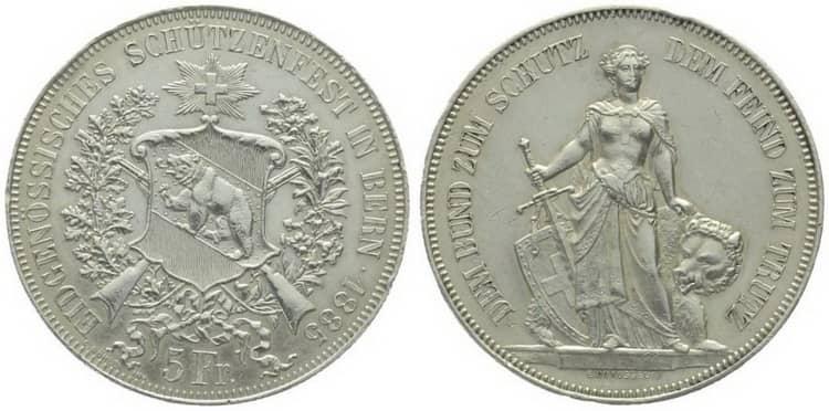 Памятные серебряные монеты Швейцарии