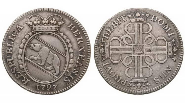 Серебряные монеты Швейцарии 1797 года