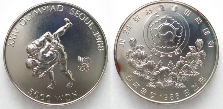 Серебряная монета Южной Кореи с 1988 года