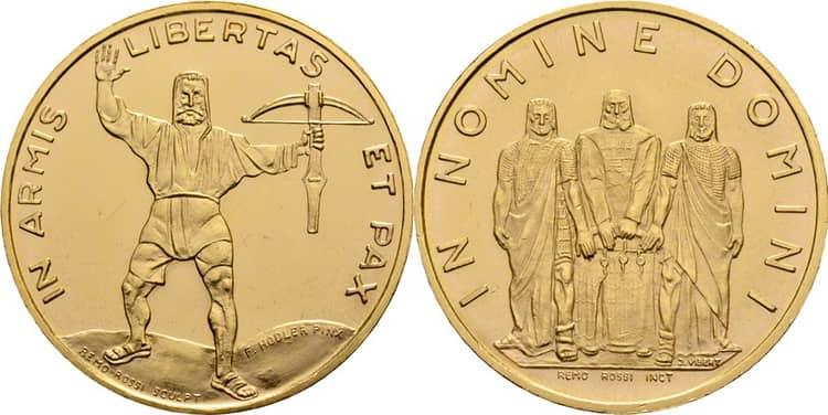Золотая монета Швейцарии