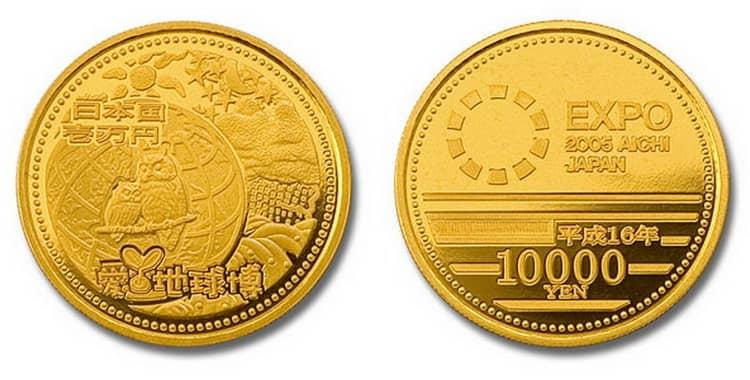 Золотые монеты Японии