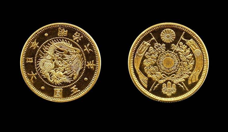 Масса золотых монет Японии периода Эдо