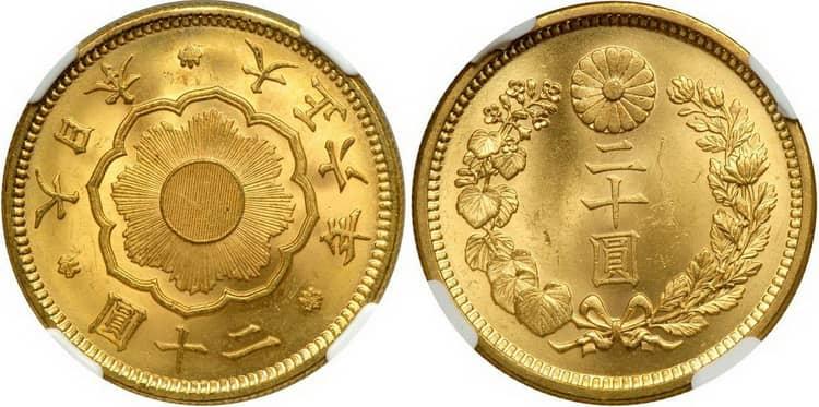 Памятные и инвестиционные золотые монеты Японии