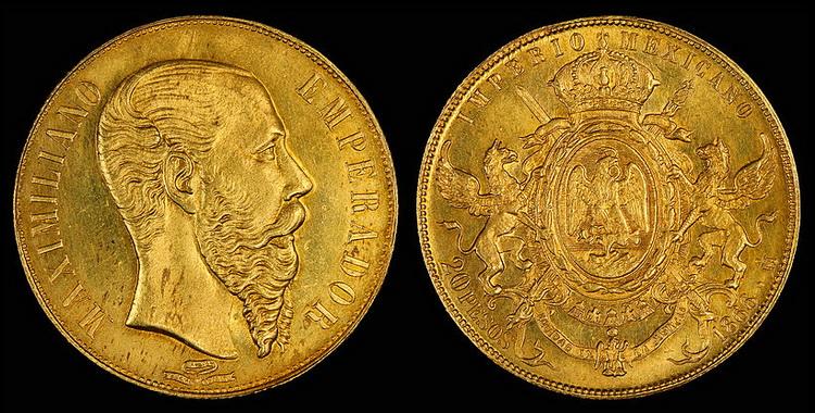 Mexico_1866_20_Pesos
